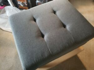 Zahra Contemporary Tufted Fabric Storage Ottoman