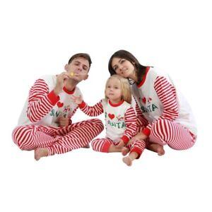 Family Matching Adult Kid Christmas Pyjamas Xmas Nightwear Pajamas PJs Set NEW