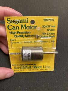 NWSL Sagami Motor 15x2.4mm Double Shaft, NEW, 20x27mm, Round Can Style, 20273-9