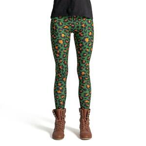 cosey – bedruckte bunte Leggings Leggins (Einheitsgröße) – Leoparden-Muster 7