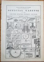 US Patent Office Official Gazette of Invention Illustrations - March 5, 1872