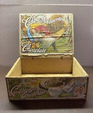 Vintage / Antique Cadbury's Penny Assorted Chocolate Wooden Box