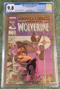 Marvel Comics Presents #1 CGC 9.8 WP 1988 Wolverine, Marvel. New Case