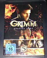 Grimm La Saison Complète/Relais 5 DVD Dans Boîte de Rangement Rapide D Neuf Ovp
