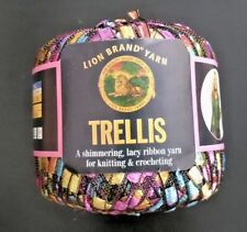 Lion Brand Trellis Crochet Knitting Yarn Thread Multi Color Pastel Garden 115 Yd