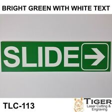 SLIDE WITH RIGHT ARROW GRAPHIC SIGN FOR SLIDING OR AUTOMATIC DOORS - 18CM X 5CM