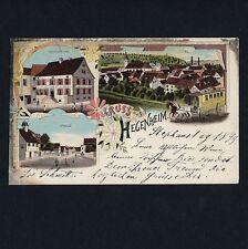 Elsass HEGENHEIM Haut-Rhin / Restaurant Post J. Jaeck * CPA 1899 Litho / AK