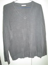 Ladies Target Size 18 Grey Jumper Thin Knit V Neck