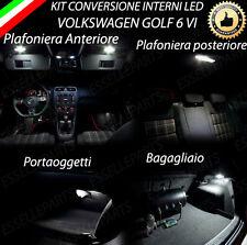 KIT FULL LED INTERNI GOLF 6 VI ANT.+POST.+LUCE CORTESIA+BAGAGLIAIO 6000K