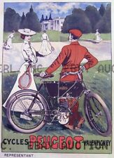 Peugeot 1910s early MOTORCYCLE  ca 8 x 10 print prent poster