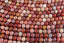 """MEXICAN RED PORCELAIN JASPER 10MM ROUND BEADS 16"""" STRAND"""