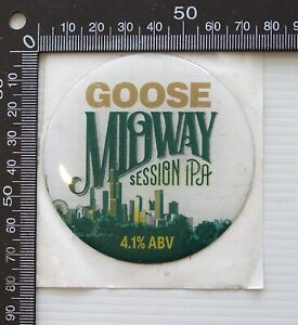 BEER TAP HEAD STICKER BADGE GOOSE MIDWAY SESSION IPA ADHESIVE BAR PUB DISPLAY