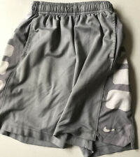 Pre-Owned Nike Dri Fit Elite Shorts Medium Gray and White Blue W/ Pockets Small