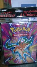 Pokemon Black & White Plasma Freeze  4 Pocket Page Portfolio Album Binder