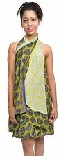 """Wevez 5 Pcs Two Layers Indian Sari Magic Wrap Around Long Skirt 30"""""""