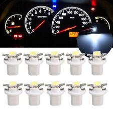 10X T5 B8.5D Car Gauge 5050 1SMD LED Speedo Dashboard Dash Side Light Bulb White