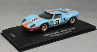 IXO Ford GT40 Gulf Le Mans Winner 1968 Rodriguez & Bianchi LM1968 1/43 NEW