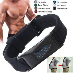 TITANIUM Magnetic Energy Armband Power Bracelet Health Bio 7in1 Bio GERMANIUM