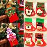 New Christmas Santa Socks Cute Ornaments Festival Party Xmas Tree Hanging Decor