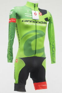 New! Castelli Men's Thermal Long Sleeve Cycling CX Skinsuit Size XS Green/Ylw