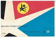 1958 Brussels World Exhibition Offical Plans Booklet