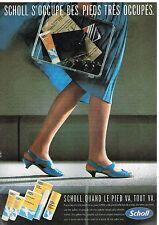 Publicité Advertising 1985 Produits de soin pour les pieds Scholl