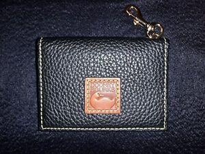 Dooney & Bourke PEBBLE GRAIN ID Card Case/Compact Wallet