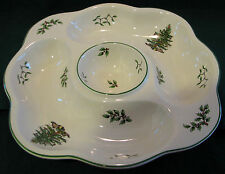 """SPODE CHRISTMAS TREE 13"""" CRUDITE VEGGIE DIP SECTIONED SERVING TRAY (MSRP=$90.)"""