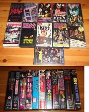KISS - 11 VHS videocassette varie in blocco (alcune molto rare. Leggimi!!!)
