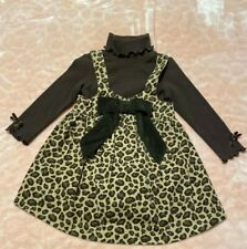 Savannah Leopard Print Jumper (Lined) & Knit Brown Bodysuit Size 12 Months New