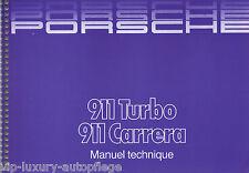 Englische Betriebsanleitung  Manuel Techniqu Porsche 911 Turbo Carrera  G-Modell