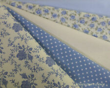 Telas y tejidos color principal azul de 100% algodón para costura y mercería