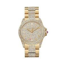 $495 Juicy Couture Women's Charlotte Crystal Stainless Steel Watch Gold-tone