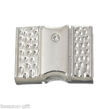 5Set Rectangle Magnet Clasp For Jewelry Making Watch Band Findings Rhinestone