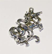 1 Silver Tone FANTASY UNICORN 50mm Charms Jewellery Making UK Stock