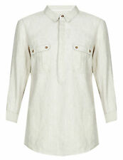 Marks and Spencer Linen Long Sleeve Tops & Shirts for Women