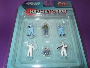 AMERICAN DIORAMA, 1:64 scale HAZMAT CREW FIGURES SET, MiJo Exclusive Ltd Edition