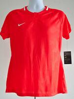 Nike Dri Fit Soccer Shirt Size Large Womens Orange Jersey Challenger Polyester