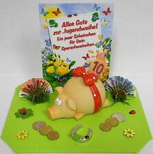 Geldgeschenke Jugendweihe - Scheinchen für Dein Sparschweinchen - Sparschwein