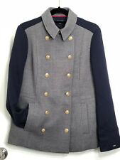 Tommy Hilfiger Double Breasted Winter Coat Military Style Size M. **NWT**