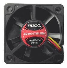 EverCool EC5020TH12BA 50x50x20mm Dual Ball Bearing Fan, 3Pin