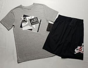 BOYS NIKE AIR JORDAN Shirt & Shorts 2 Piece Set SIZE 10-12  (M) NWT