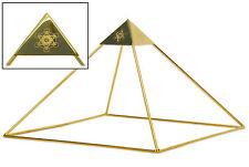 "9"" Gold-plated Copper Meditation Pyramid by Buddha Maitreya The Christ"
