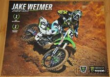 2014 Jake Weimer Monster Kawasaki KX450F AMA Supercross postcard