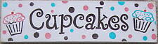 CUPCAKES Chic Shabby SIGN PLAQUE Kitchen Cottage YUMMY