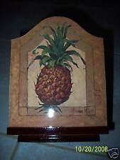 "Pineapple Recipe Box 7""  Welcome by Barbara Mock Wood  NIB"