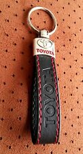 TOYOTA TRD Keyring RAV4 AVENSIS AURIS Yaris AYGO BLACK RED ECO Leather Key ring