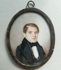 (B027) Miniatur Portrait, eines jungen Herren, Gouache, datiert 1883