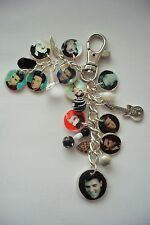 NEW RARE ELVIS PRESLEY THE KING.PHOTO HANDBAG CHARM PURSE BAG KEYRING Memory