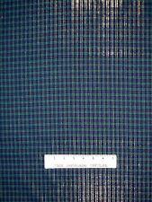 Christmas Fabric - Woven Green & Blue Tartan Plaid with Lurex Gold Thread - YARD